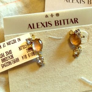 Alexis Bittar rose color earrings